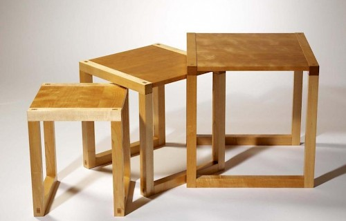 Commissioned to match a pedestal desk, this large coffee table uses the same material in slightly different proportions
