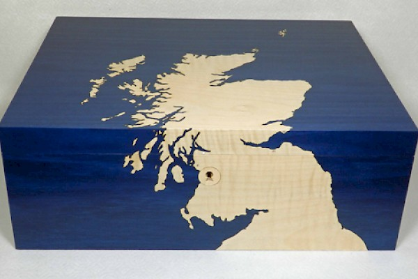 Map of Scotland Memory Box